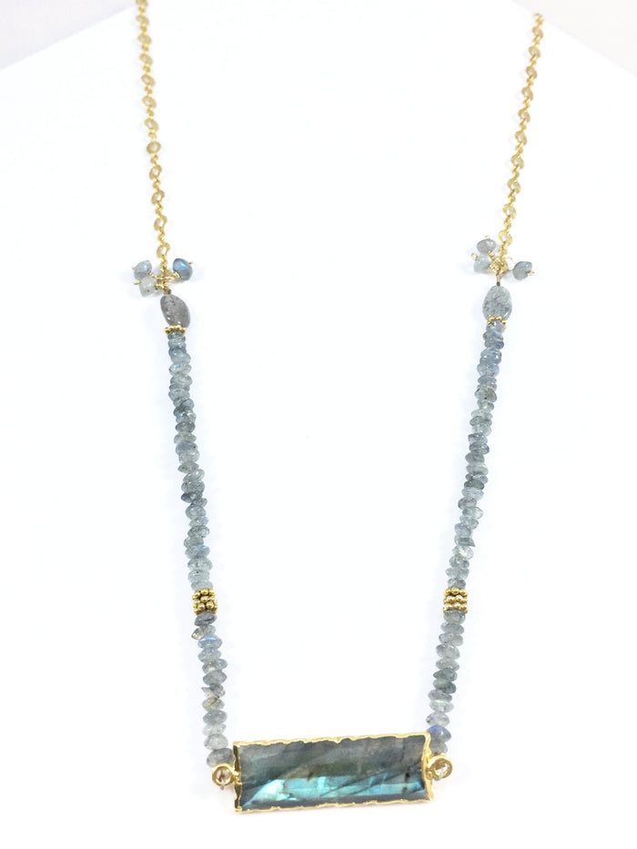 Labradorite with Rondelles Necklace