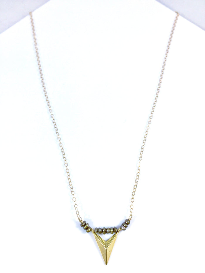 Chevron Mini Bead Necklace