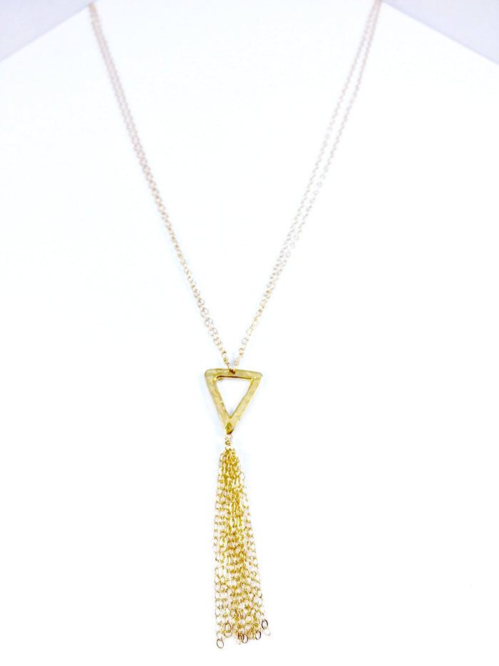 Triangle & Tassels Necklace