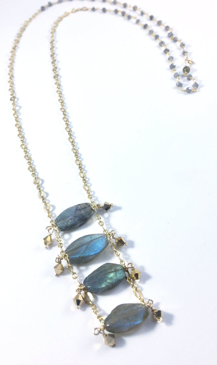 Labradorite Ladder Necklace