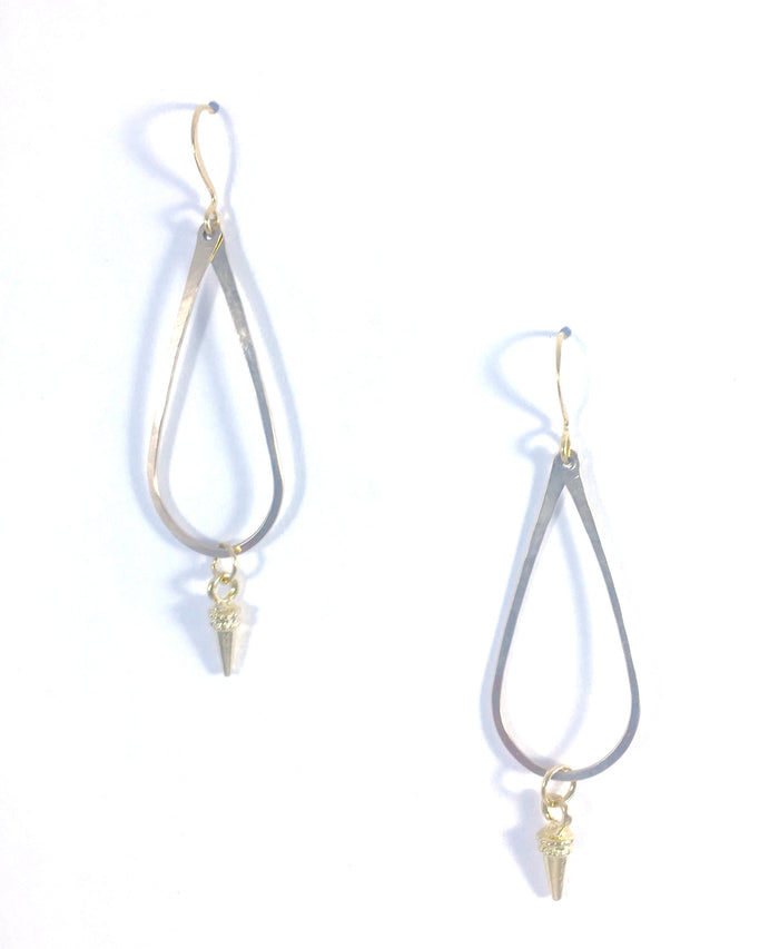 Teardrop and Spike Earring