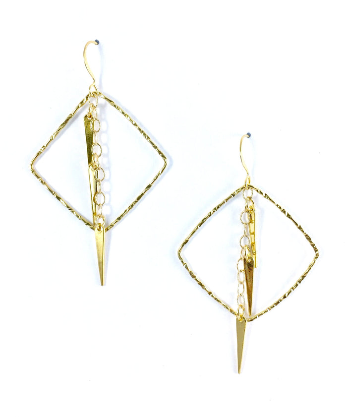 Diamond & Spike Dangle Earring