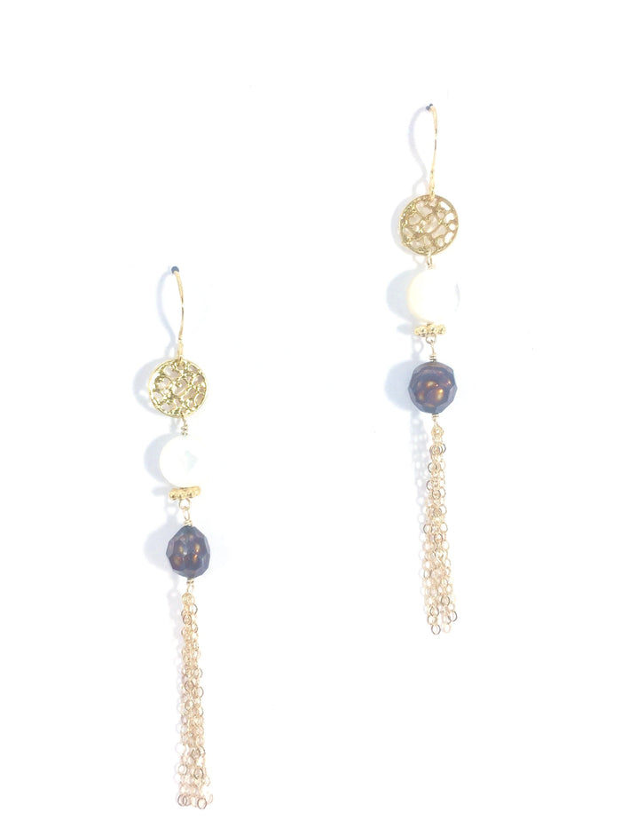 Three Tier Filigree with Tassels Earring