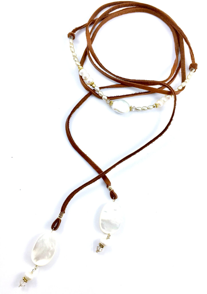 Multi Wrap Leather Necklace