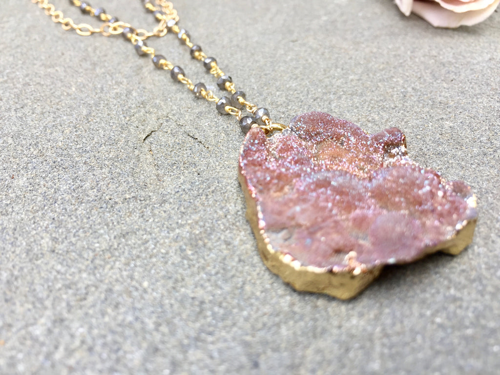 Galaxy Druzy Necklace