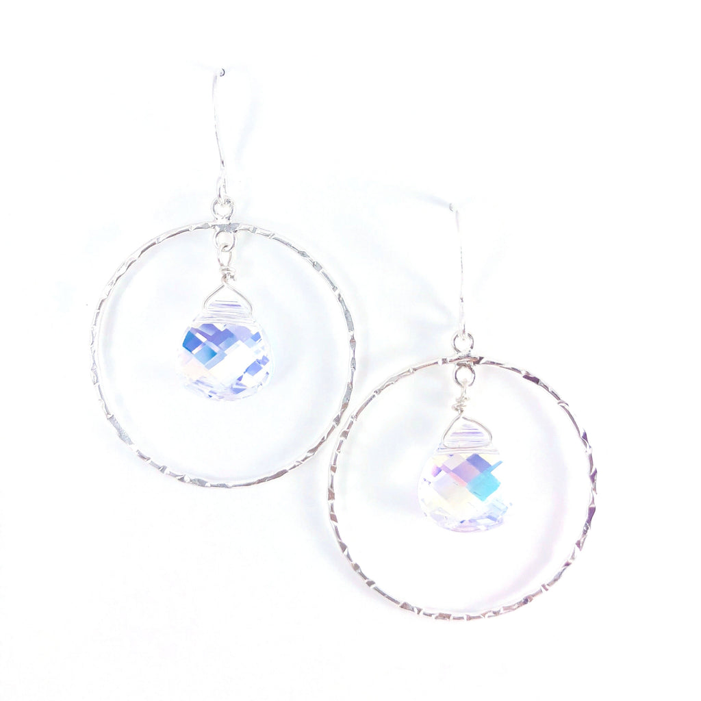 Swarovski Teardrop Circle Earring