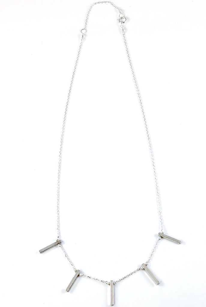 Vertical 5 Bar Necklace