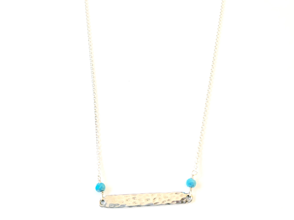 Bar with Turquoise Necklace