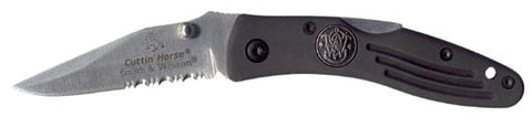 Smith & Wesson Cuttin' Horse Partially Serrated Knife