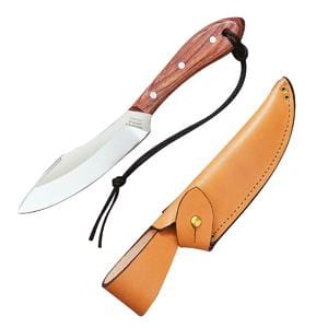 Grohmann Knives Survival Knife with Rosewood Handle and Button Tab Sheath
