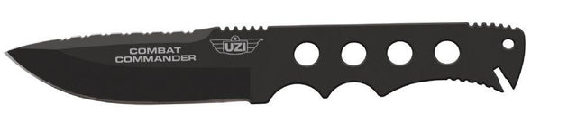 Uzi Tactical Commander Fixed Blade - Black