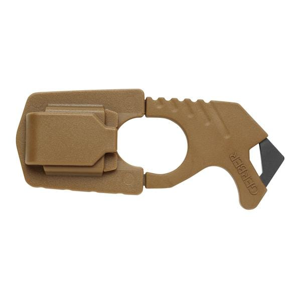 Gerber Safety Hook Knife w/Seatbelt Cutter, Coyote Brown