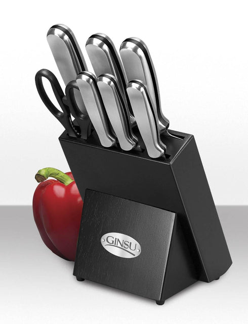 Ginsu 8 Piece Stainless Traditional Knife Set with Block