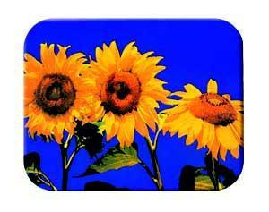 Tuftop Tempered Glass Kitchen Board, Artist Collection - Fleur du Soleil Sm