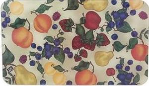 Tuftop Tempered Glass Kitchen Board, Artist Collection - Fruit Collage Smal
