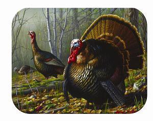 Tuftop Tempered Glass Kitchen Board -Turkeys-Small