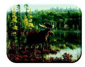 Tuftop Tempered Glass Kitchen Cutting Board, Wildlife Collection  - Moose Small
