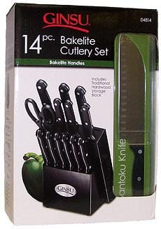 Ginsu 14 Piece Bakelite Cutlery Set, Natural Block