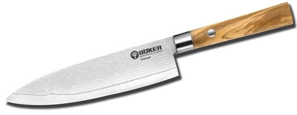 Boker Damascus Olive Utility Kitchen Knife