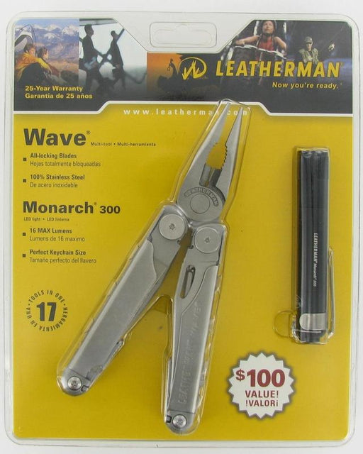Leatherman Wave w/Nylon Sheath and Monarch Flashlight Combo