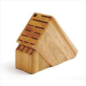 16 Slot Natural Hardwood Knife Block