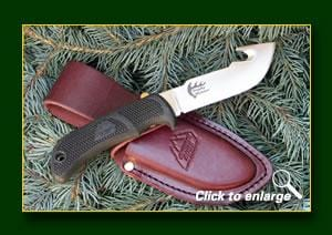 Outdoor Edge Fixed Blade Trophy Skinner with Leather Sheath