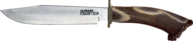 Schrade Frontier Fixed Clip Blade w/ Stag Handle