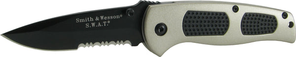 Smith & Wesson Smith & Wesson Medium SWAT Knife - Gold & Black, Serrated