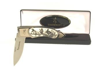 Browning Scrimshaw Pheasant Single Blade Pocket Knife