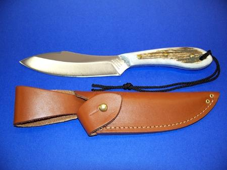 Grohmann Knives Staghorn Handle Survival Knife Stainless