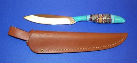 Grohmann Knives Trout & Bird Model w Inlaid Handle