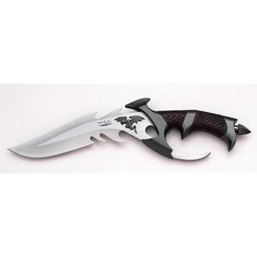 United Cutlery Dragon Lord Plain Edge Fixed Blade Knife with ABS Handle
