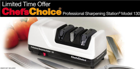 Chef's Choice Model 130 White Professional Knife Sharpening Station