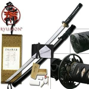 Ryumon Black Bamboo Katana Sword