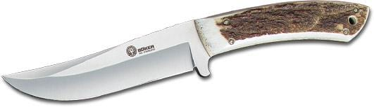 "Boker Arbolito Fixed Blade Knife with Stag Handle and 4 3/4"" Blade"