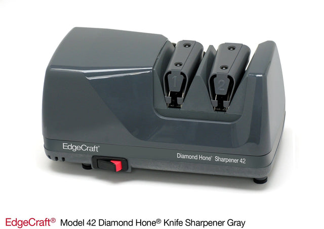 EdgeCraft Sportsman M42 Diamond Hone Electric Knife Sharpener, Gray