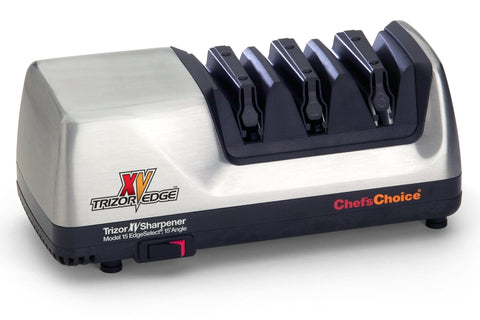 Chefs Choice 3-stage Model 15XV Electric Knife Sharpener, Brushed Metal