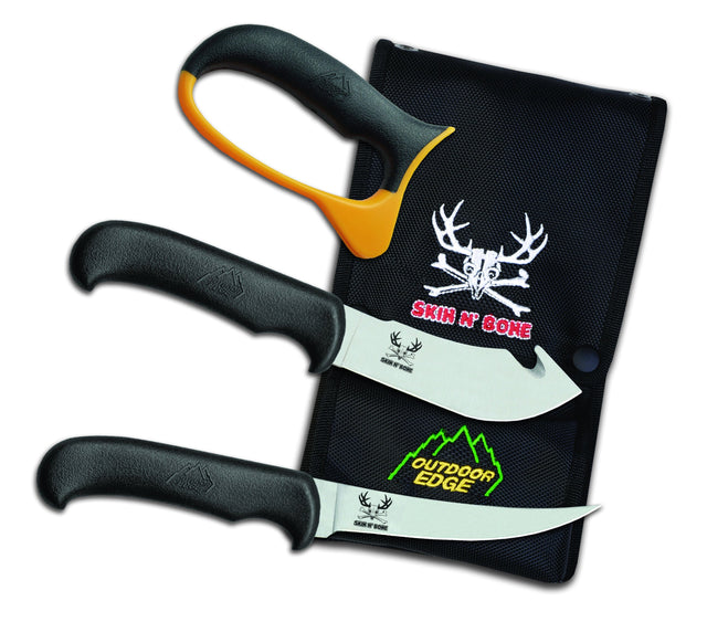 Outdoor Edge Skin n' Bone 4-Piece Skinning/ Boning Knife Combo