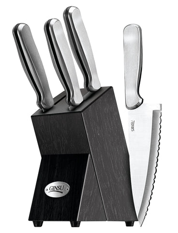 Ginsu Knives Kotta Series 5 Piece Stainless Steel Ginsu Knife Set (Black)