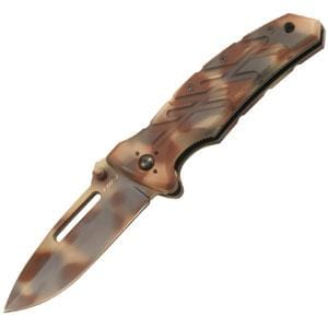 Ontario Knife Company XM-1DS, Desert Camo Blade & Rubberized Handle, Plain