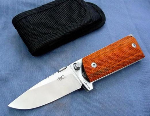 M1911 Compact Folding Knife with Satin Polished 440C Blade and Checkered La