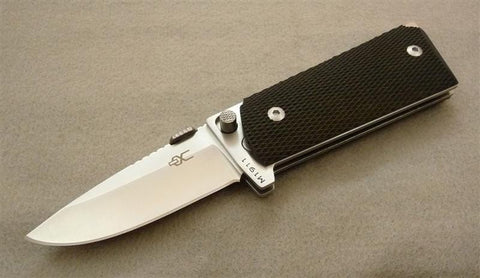 M1911 Compact Folding Knife with Satin Polished 440C Blade and Checkered Bl