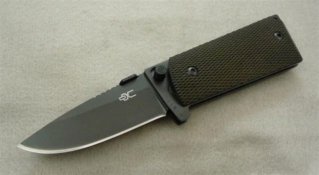 M1911 Compact Folding Knife w/Black Titanium Nitride Coated 440C Blade & Ch