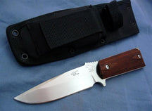 M1911 Fixed Blade with Hand-rubbed Polished 440C Blade and Checkered Lamina
