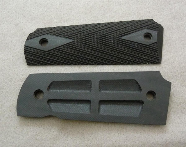 Standard Grips for M1911 Government, checkered black G10