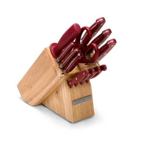 KitchenAid 13 Pc. Forged Cutlery Block Set, Red