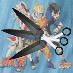 Naruto Throwing Knives With White Nylon Cord Handle
