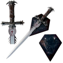 Fantasy Sword with Wall Wood Display Plaque