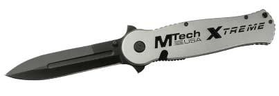 M Tech USA Xtreme Silver Handle Folding Knife