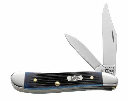 Case Cutlery Peanut Ocean Blue Barnboard 2-Blade Pocket Knife